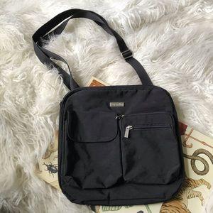 Baggallini black canvas travel crossbody bag